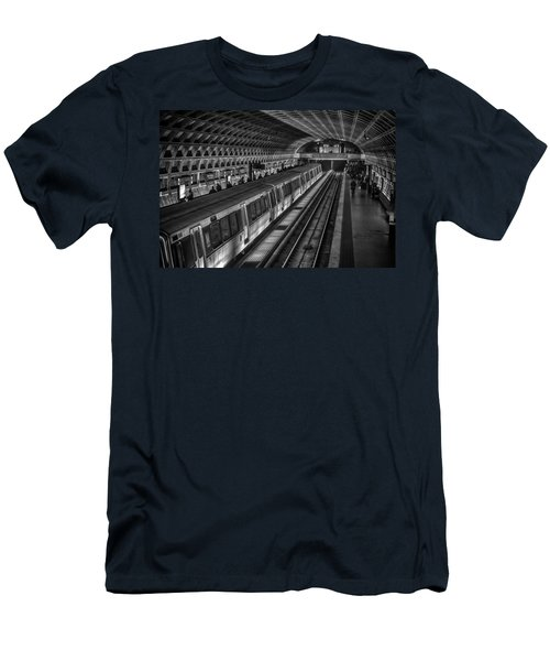 Subway Train Men's T-Shirt (Slim Fit) by Lynn Palmer