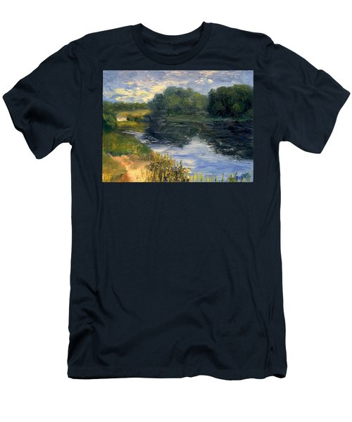 Summer At Jackson Lake Men's T-Shirt (Slim Fit) by Gail Kirtz