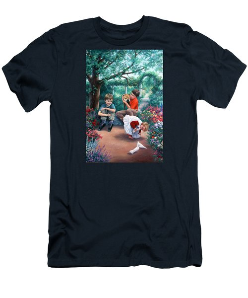 Summer Days Men's T-Shirt (Slim Fit) by Vivien Rhyan