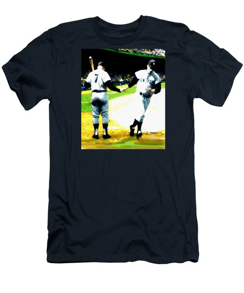 Summer Of The Gods  Iv 1961 Mickey Mantle Men's T-Shirt (Slim Fit) by Iconic Images Art Gallery David Pucciarelli