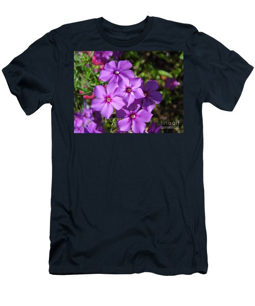 Men's T-Shirt (Slim Fit) featuring the photograph Summer Purple Phlox by D Hackett
