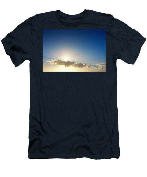Sunbeams Behind Clouds Men's T-Shirt (Athletic Fit)
