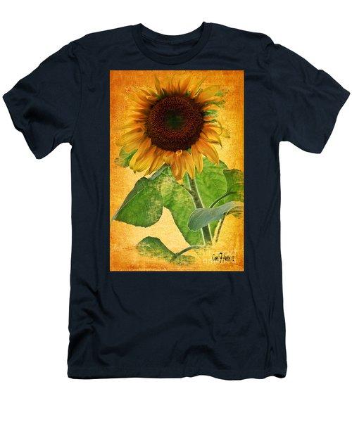 Sunny Sunflower Men's T-Shirt (Slim Fit) by Carol F Austin