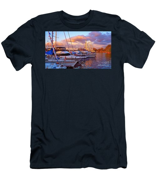 Sunset Before The Show Men's T-Shirt (Slim Fit) by Gem S Visionary