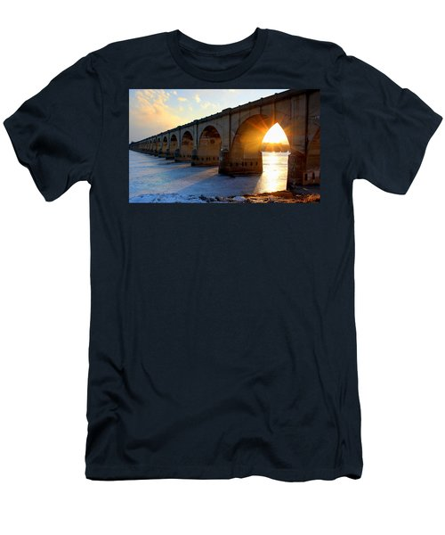 Sunset Bridge Men's T-Shirt (Athletic Fit)
