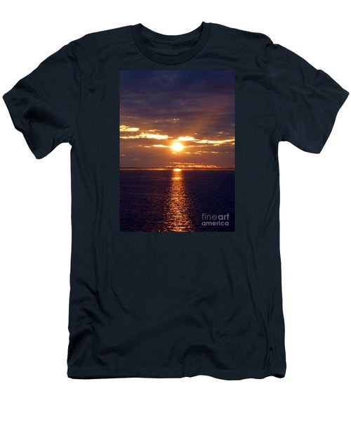 Sunset From Peace River Bridge Men's T-Shirt (Slim Fit) by Barbie Corbett-Newmin