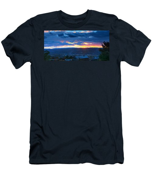 Sunset In Ithaca New York Panoramic Photography Men's T-Shirt (Athletic Fit)