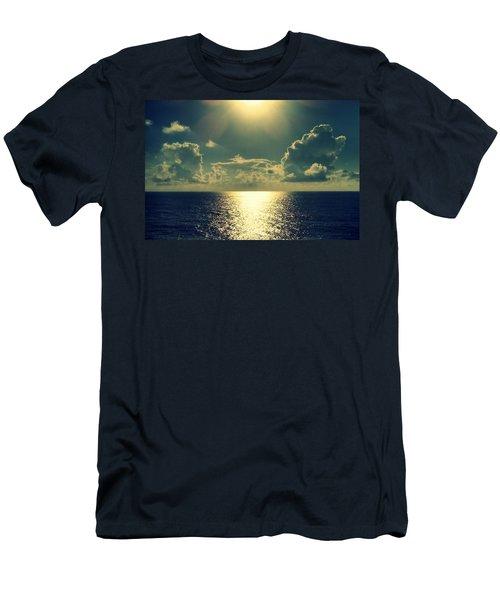 Sunset On The Atlantic Ocean Men's T-Shirt (Slim Fit)