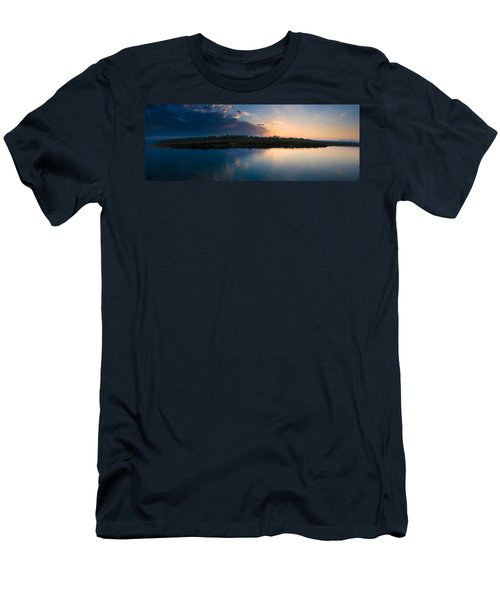 Sunset Over A Lake, Chitwan National Men's T-Shirt (Athletic Fit)