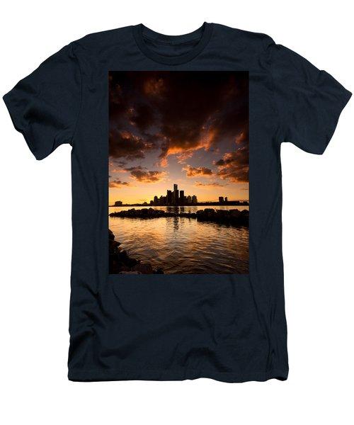 Sunset Over Detroit Men's T-Shirt (Athletic Fit)