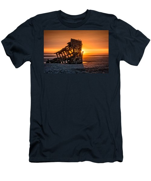Sunset Peter Iredale Men's T-Shirt (Slim Fit) by James Hammond