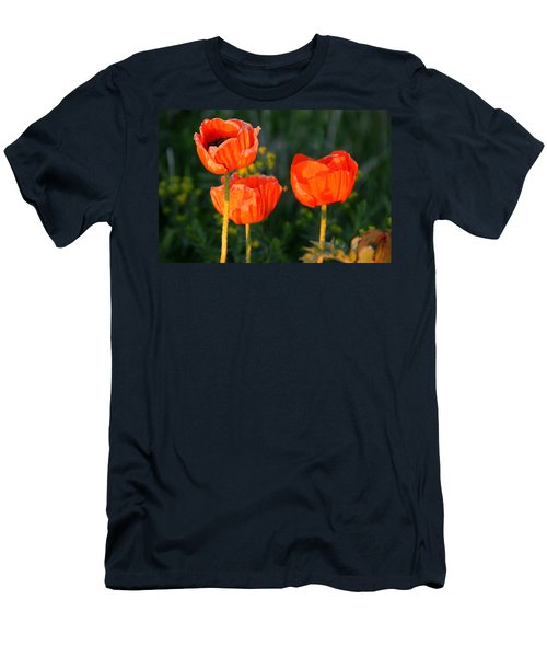 Men's T-Shirt (Slim Fit) featuring the photograph Sunset Poppies by Debbie Oppermann