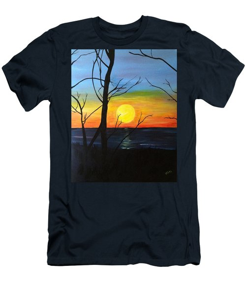 Sunset Through The Branches Men's T-Shirt (Athletic Fit)