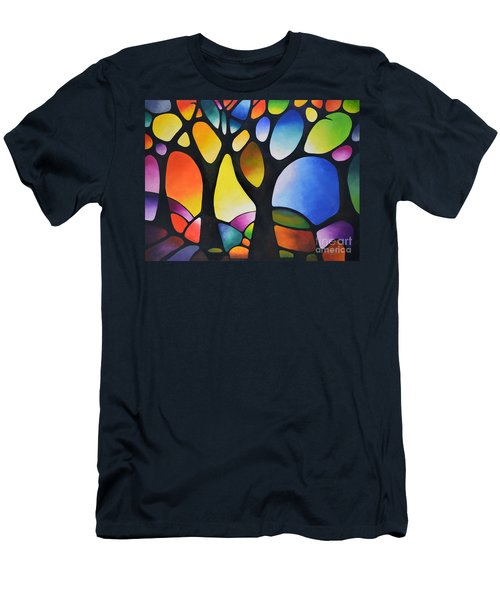 Sunset Trees Men's T-Shirt (Athletic Fit)
