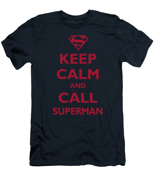 Superman - Call Superman Men's T-Shirt (Athletic Fit)