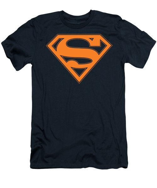 Superman - Navy And Orange Shield Men's T-Shirt (Athletic Fit)