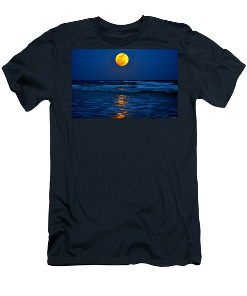 Supermoon Rising On Navarre Beach 20120505c Men's T-Shirt (Slim Fit) by Jeff at JSJ Photography