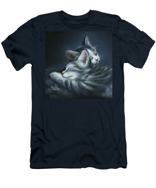 Men's T-Shirt (Slim Fit) featuring the drawing Sweet Dreams by Cynthia House