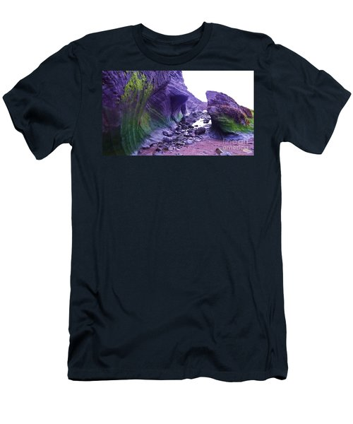Men's T-Shirt (Slim Fit) featuring the photograph Swirl Rocks by John Williams