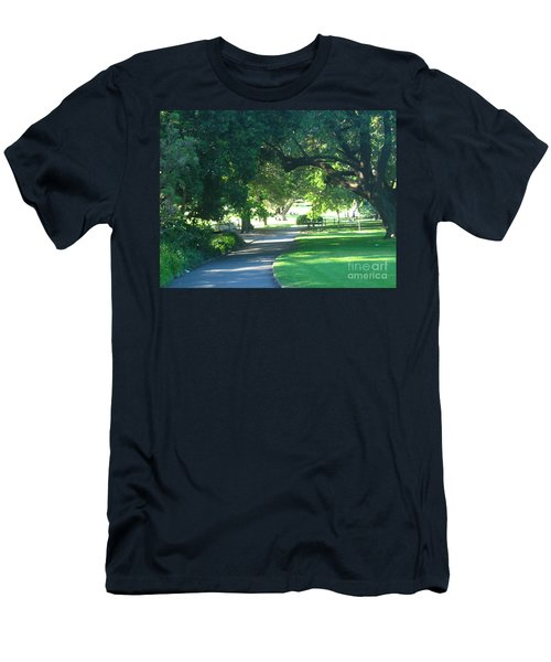 Sydney Botanical Gardens Walk Men's T-Shirt (Slim Fit) by Leanne Seymour