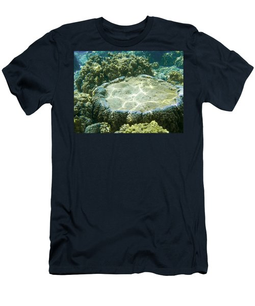 Table Top Coral Men's T-Shirt (Slim Fit) by Denise Bird