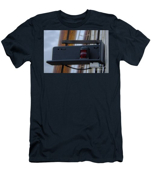 Men's T-Shirt (Slim Fit) featuring the photograph Tall Ship Bow Light by Dale Powell