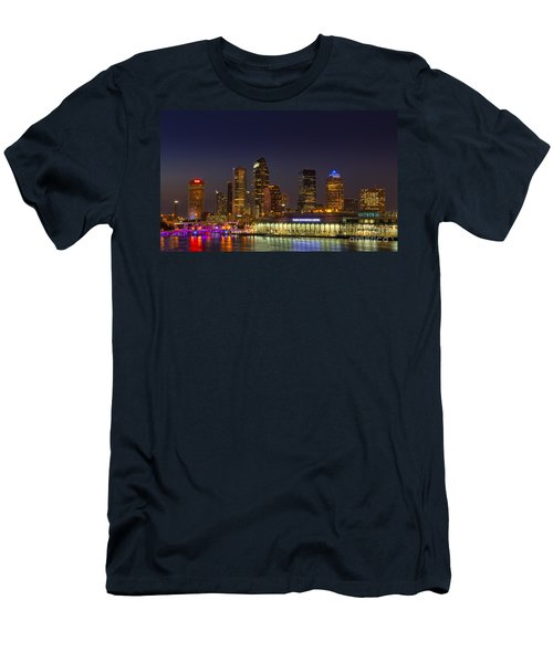 Tampa Lights At Dusk Men's T-Shirt (Athletic Fit)