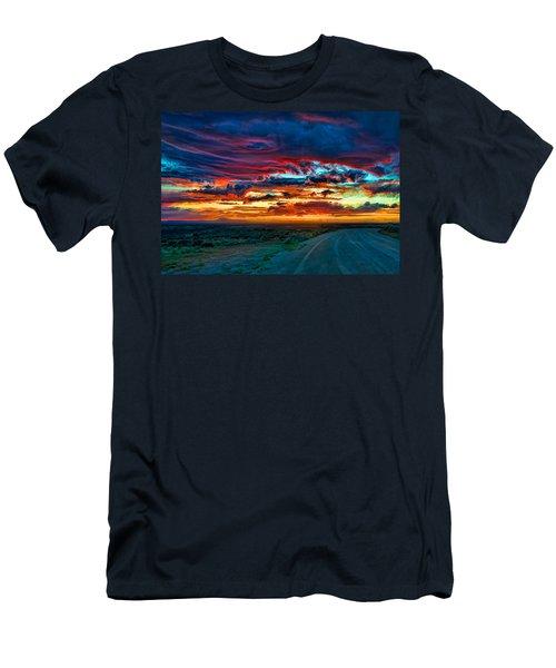 Taos Sunset Iv Men's T-Shirt (Athletic Fit)