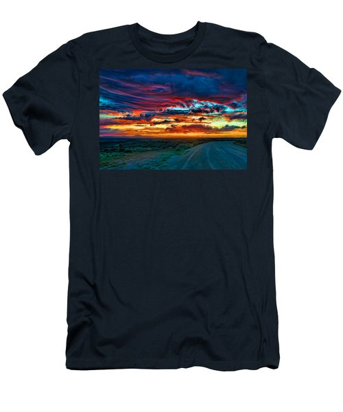 Taos Sunset Iv Men's T-Shirt (Athletic Fit)