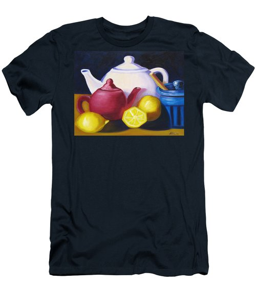 Teapots In Primary Colors Men's T-Shirt (Slim Fit)