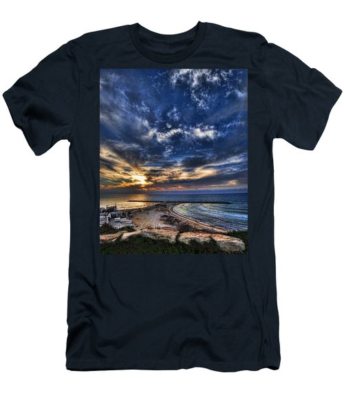 Tel Aviv Sunset At Hilton Beach Men's T-Shirt (Athletic Fit)