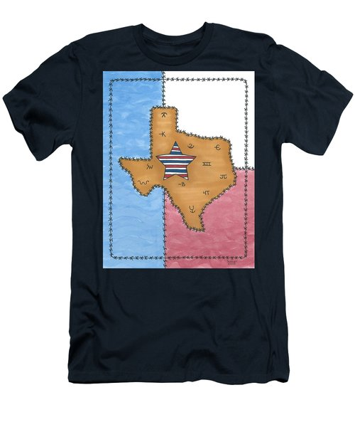 Texas Tried And True Red White And Blue Star Men's T-Shirt (Athletic Fit)