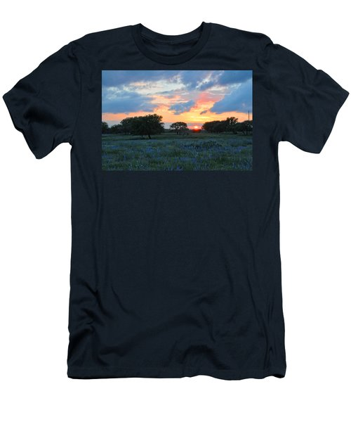 Texas Wildflower Sunset  Men's T-Shirt (Athletic Fit)