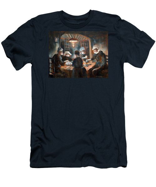 Men's T-Shirt (Slim Fit) featuring the painting Tater Eatin by Randol Burns