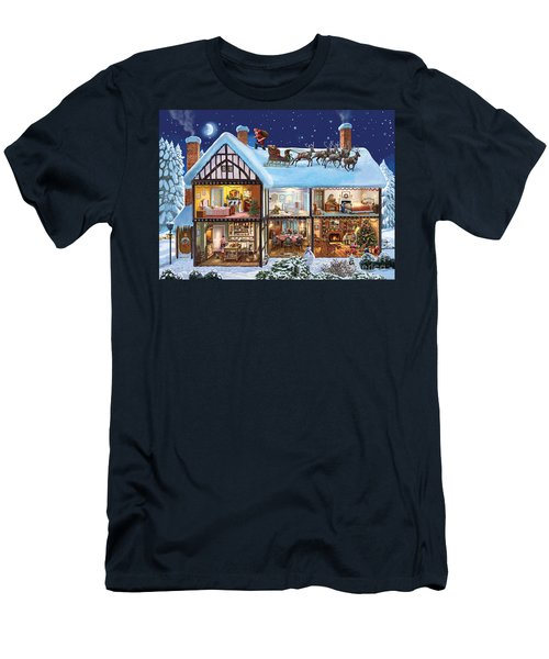 Christmas House Men's T-Shirt (Athletic Fit)
