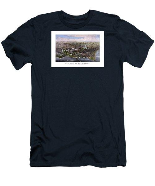 The City Of Washington Birds Eye View Men's T-Shirt (Athletic Fit)