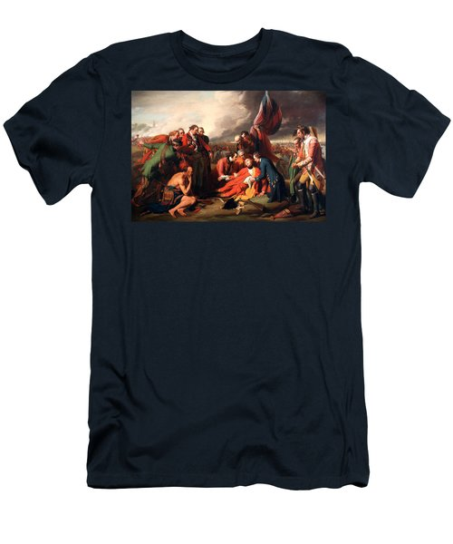 The Death Of General Wolfe Men's T-Shirt (Slim Fit) by Benjamin West