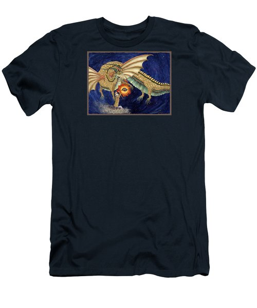 The Dragon King Men's T-Shirt (Slim Fit) by Lynda Hoffman-Snodgrass