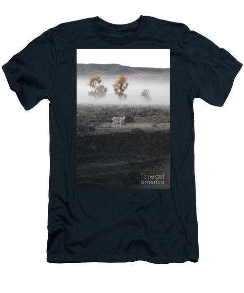 Men's T-Shirt (Slim Fit) featuring the photograph The Dream Cow Of Mourning by Brian Boyle