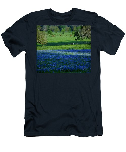 Men's T-Shirt (Slim Fit) featuring the photograph The Pastures Of Central Texas by John Glass