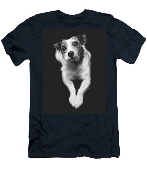 The Jack Russell Stare- Got Ball? Men's T-Shirt (Slim Fit) by Rachel Hames