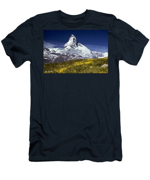 The Matterhorn With Alpine Meadow In Foreground Men's T-Shirt (Athletic Fit)