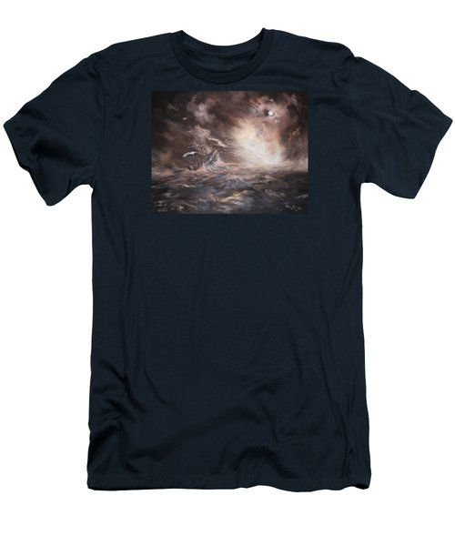 Men's T-Shirt (Slim Fit) featuring the painting The Merchant Royal by Jean Walker