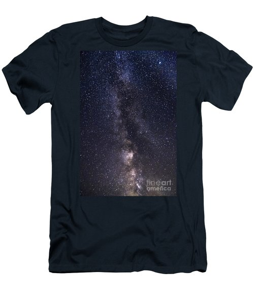 The Milky Way From Phippsburg Maine Usa Men's T-Shirt (Athletic Fit)