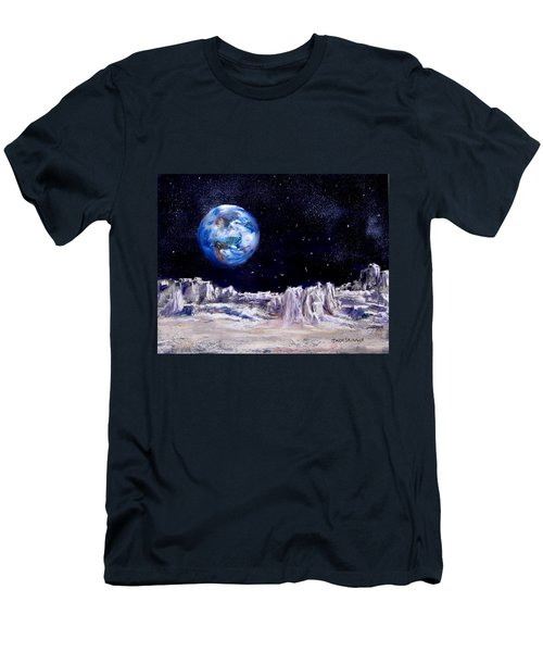 Men's T-Shirt (Slim Fit) featuring the painting The Moon Rocks by Jack Skinner