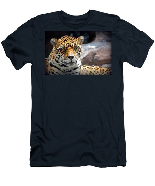 Men's T-Shirt (Slim Fit) featuring the photograph The Ole Leopard Don't Change His Spots by Lynn Sprowl