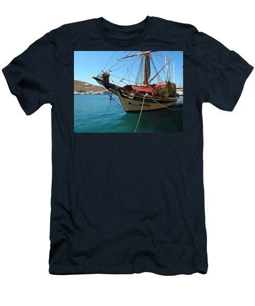 The Pirate Ship  Men's T-Shirt (Slim Fit) by Micki Findlay