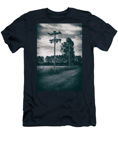 Men's T-Shirt (Athletic Fit) featuring the photograph The Power Lines  by Howard Salmon
