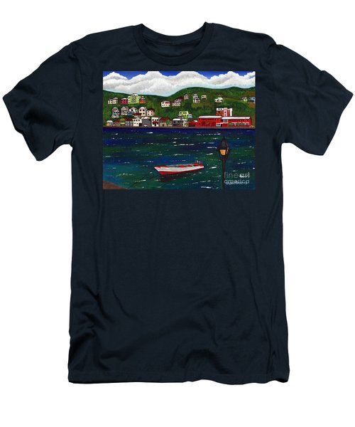 The Red And White Fishing Boat Carenage Grenada Men's T-Shirt (Athletic Fit)