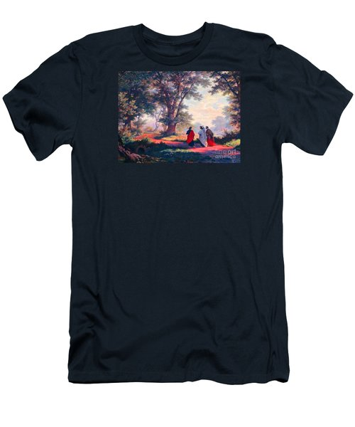 The Road To Emmaus Men's T-Shirt (Slim Fit) by Tina M Wenger